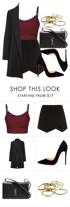 """""""Style #11467"""" by vany-alvarado ❤ liked on Polyvore featuring The Row, Christian Louboutin, Yves Saint Laurent and Kendra Scott"""