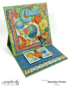 Annette's Creative Journey: Graphic 45 World's Fair Easel Card.