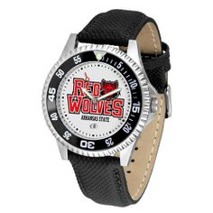 "Arkansas State Red Wolves NCAA ""Competitor"" Mens Watch by SunTime. $73.79. Rotating Bezel. Calendar Date Function. Color Coordinated. Showcase The Hottest Design In Watches Today! A Functional Rotating Bezel Is Color Coordinated To Highlight Your Favorite Team Logo. A Durable, Long Lasting Combination Nylon/Leather Strap, Together With A Calendar Date, Round Out This Best Selling Timepiece.. Save 10%!"