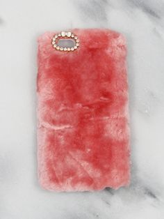 Pink Fuzzy iPhone Case.