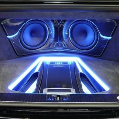 Car Audio Fabrication trunk install fiberglass amps leds carbon fiber custom