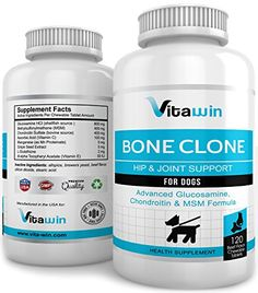 Advanced Glucosamine for Dogs 800MG  120 Chew Tabs for Hips  Joints  Plus Chondroitin 400mg  MSM 400mg  Best Value per tablet on Amazon  Vet Approved Double Strength Formula  Maximum Mobility Pain Relief  Nutritional Dog Supplement * For more information, visit image link. (This is an affiliate link) Joint Supplements For Dogs, Pet Supplements, Degenerative Disease, Brewers Yeast, Grape Seed Extract, Pain Relief, Vitamins