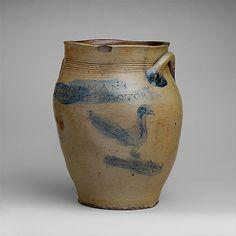 Jar Jar Paul Cushman  (1767–1833) Date: 1805–33 Geography: Mid-Atlantic, Albany, New York, United States Culture: American Medium: Stoneware