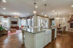 Viridian kitchen & livingroom #CambridgeHomes