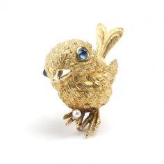 A sapphire bird brooch, Van Cleef & Arpels : Lot 41