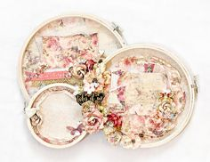 Shabby altered embroidery hoops