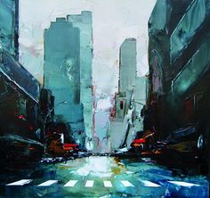 Acrylic Paintings of New York by Daniel Castan (12 Pictures)