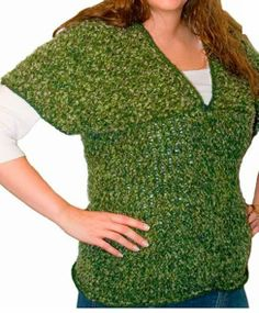 V Neck Sweater - Knifty Knitter X-large Loom (Yellow Round) pattern