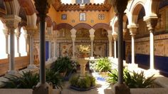 Palau Maricel, Barcelona. Ideal for cocktails or wedding reception #barcelonawedding