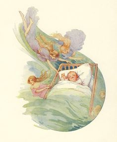 Theaker From the book, The Water-Babies by Charles Kingsley. Published by Ward, Lock & Co. Holiday Postcards, Vintage Postcards, Fairy Land, Fairy Tales, Golden Age, Are You Happy, Illustrators, Pixie, Fantasy Art
