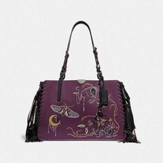 160e853d7f Coach Dreamer Tote 34 With Tatoo  Coachbags  Coachhandbags  Coachpurple  Ad   Coachtote