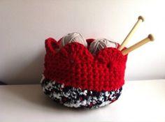 Tutorial paso a paso como hacer cesto cuenco cantasto de trapillo a crochet ganchillo XL