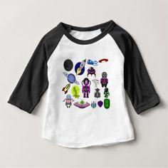 space clip art aliens space craft baby T-Shirt - craft diy cyo cool idea