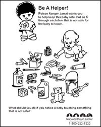 Home Safety/Poison Worksheets--free