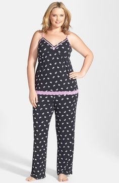 PJ Salvage 'Modal Essentials' Lace Trim Camisole Pajamas (Plus Size) (Nordstrom Online Exclusive) available at #Nordstrom