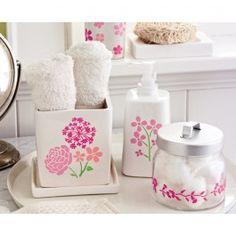 Plaid Martha Stewart Blossom Bathroom Accessories