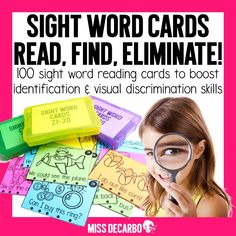 This sight word resource contains 100 sight word reading cards for sight word identification and practice. These sight word cards can be used during small group reading, reteaching and intervention times, placed within a literacy or word work center Sight Word Spelling, Sight Word Games, Sight Words, Word Work Stations, Word Work Centers, Reading Logs, Card Reading, Guided Reading Binder, Retelling Activities