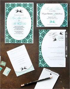love bird wedding invite | VIA #WEDDINGPINS.NET