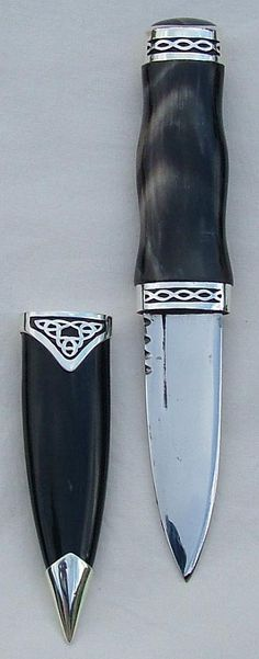 Currently own: buffalo horn sgian dubh