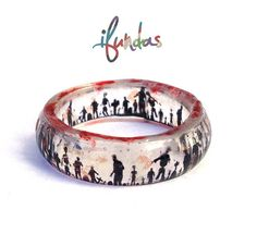 Zombie Resin Ring Stackable Ring Halloween Picture Ring