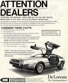 c/ 1981-1983: DeLorean ads