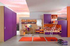 purple themed girls beds