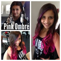 Pink ombré with purple to pink ombré highlight in the front ....I'd want purple only