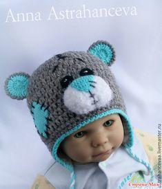 Добрый день!  Попросила меня подружка связать своему полугодовалому малышу комплект Мишка Тедди, только не с шарфом, а со снудом.