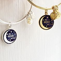 ALEX AND ANI CHARITY BY DESIGN Stellar Love Charm Bangle | Love • Nourish • Infinity | In life, there are people who we would go the distance for. We go the extra mile, because we feel so strongly. We work harder, because we love so deeply. We strive to go above and beyond to nourish their soul. When you love someone to the moon and back, your love knows no bounds.