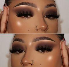 Dope Makeup, Baddie Makeup, Makeup Eye Looks, Smokey Eye Makeup, Eyeshadow Makeup, Makeup Inspo, Eyeshadows, Makeup Eyes, Makeup For Black Skin