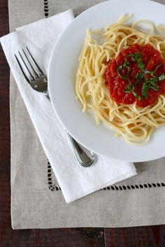 {the simplest tomato sauce} i have made this about 5 times since coming across this recipe. it is absolutely perfect in every way. it turns out that this tomato sauce recipe was from marcella hazan's essentials of classic italian cooking http://t.co/Tk9mAfM