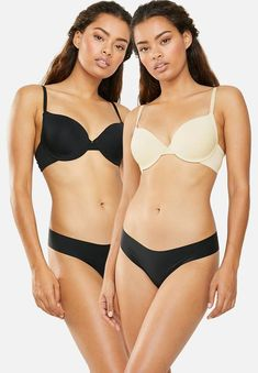 2 Pack push up bra -skin & black Superbalist Bras | Superbalist.com Hip Bones, Lingerie Sleepwear, Body Measurements, Push Up, Bikinis, Swimwear, Tights, Women, Fashion
