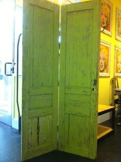 Ideas para reciclar puertas viejas de madera biombos de - Puertas de biombo ...