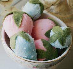 Velvet Strawberry Pincushion