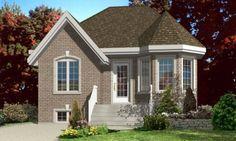 HousePlans.com 138-319 small, simple starter home