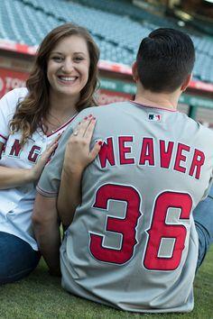 Baseball Engagement Session - Southern California Photographer - Kelly H Photo