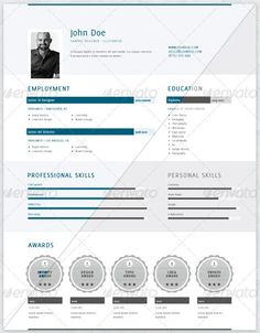 Resume graphic eye catching picture