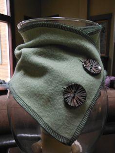 Button Fleece Scarf Fleece Scarf Neck Wrap by CTCreativeTreasures, $7.50