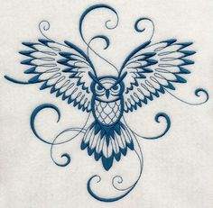 Inky Owl in Flight - admittedly, this is a very girly looking tat...still kinda cool, tho.