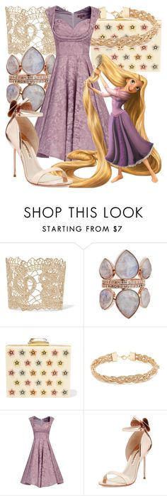 """""""Rapunzel"""" by fabulousgurl ❤ liked on Polyvore featuring Valentino, KOTUR, Forever 21, Jolie Moi, Sophia Webster, disneybound and tangled"""