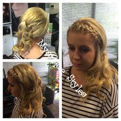 #bride #bridalhair #bridalparty #curls #curlyhair #Babyliss #braids #mystiquestyles #hairbymel #hairstyles #hairup