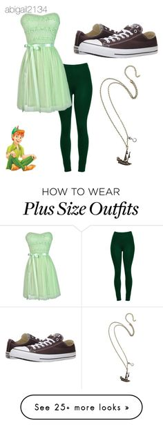"""Peter Pan"" by abigail2134 on Polyvore featuring Converse and Disney"