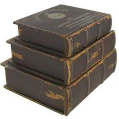 Antique Black Wood Book with Drawers