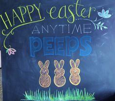 Chalkboard Signs :: by Emily Trcalek Chalkboard Signs, Chalkboard Ideas, Chalkboards, Inspiration Board Fitness, Anytime Fitness, Gym Design, Chalk Art, Happy Easter, Diy And Crafts