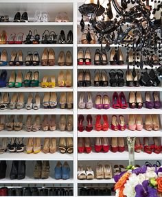 Shoe display // closet organizing // dream wardrobe