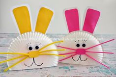 Easter Kids' Crafts and Activities Daycare Crafts, Bunny Crafts, Easter Crafts For Kids, Toddler Crafts, Preschool Crafts, Easter Ideas, Easter Activities, Craft Activities, Spring Crafts