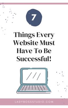 7 Things Every Website Must Have To Be Successful! So you have to create and design a successful website, but you don't currently have the funds to outsource this to a professional? Here are the 7 things you need to keep in mind to make your website successful. Check them out! Home Based Business Opportunities, Business Tips, Online Business, Website Optimization, Online Tutorials, Meaningful Life, Pinterest For Business, Be Your Own Boss, Work From Home Jobs