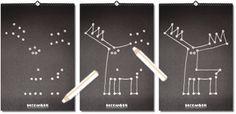 Gregory interactive calendar: Design by Demian Conrad ($40.00) #calendar #deer #chalkboard