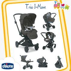 Mover-se nunca foi tão fácil!  Com o Trio I-Move é simples mudar o carrinho da posição virada para o condutor ou virada para a frente, sem precisar retirar o bebê; o amplo assento gira 360º e permite o reclino completo do encosto, garantindo total conforto para o bebê; o carrinho é ultra-compacto e pode ser fechado com ou sem o assento. Para bebês de até 15kg.