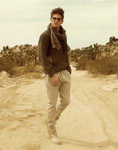 Adam Senn by Yu Tsai for GQ Italy  sweater. scarf. sunglasses. :) boots.